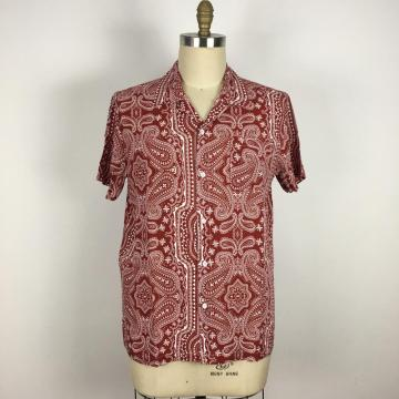 Summer Party Cotton Vintage pattern Shirts
