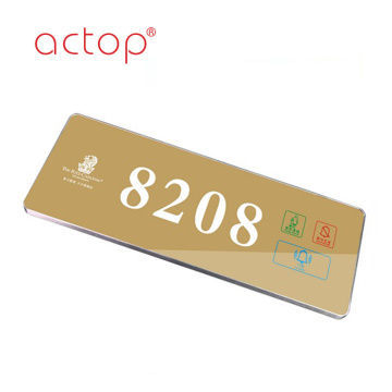 Hotel electronic touch doorbell doorplate