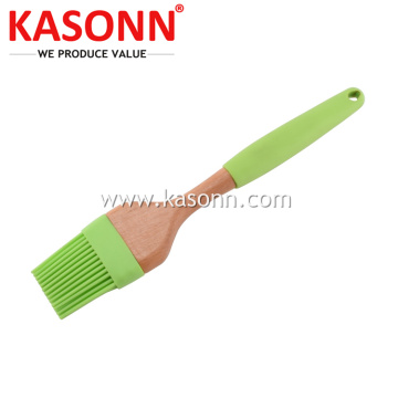 Premiun Silicone Kitchen Cooking Brush with Wood Handle