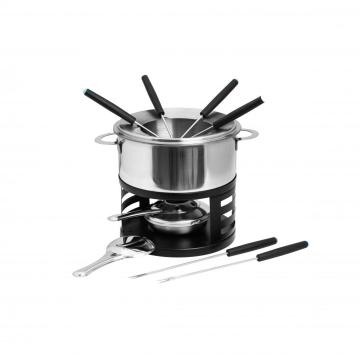fondue set for meat cheese chocolate