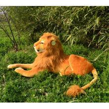 [Funny] Large 85cm Lion Adult Stuffed Plush doll toy simulation animal prone lion model kids child best gift