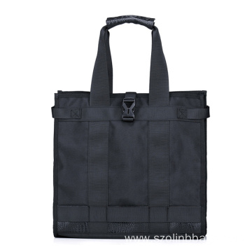 Black Fabric Shopping Bags for Men Women