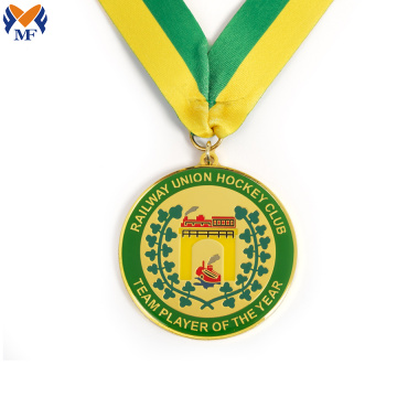 Golden ice sport game club medal