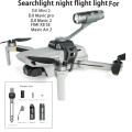 Drone Top Searchlight Flight light Flashlight W Charger For DJI Mini 2 Mavic air 2 Mavic 2/pro/Fimi X8 SE 2020 Drone Accessories
