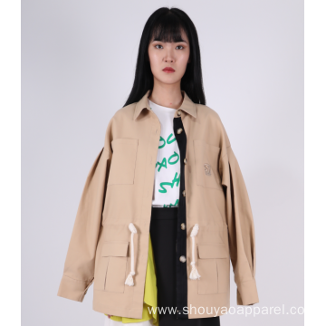 LADIES OVERSIZE TRENCH COAT