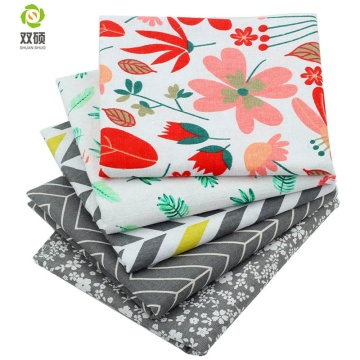 5pcs/Lot Floral Color Series Patchwork Printed Cotton Linen Fabric For DIY Quilting&Sewing Placemats,Bags Material,20x30cm