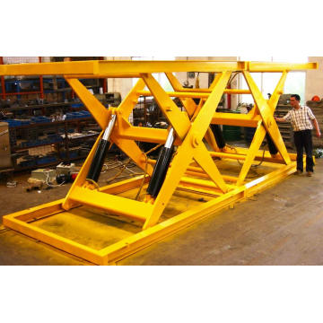 Scissor lifting extended table