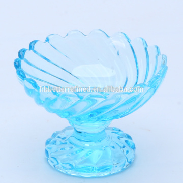 decorative colored glass dessert bowl