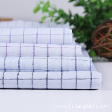 Check Bamboo fabric Polyester Fabric Anti-wrinkle Business