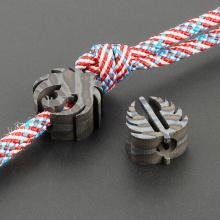 Flame Phoenix Titanium Alloy Knife Beads EDC Tool Leaves Paracord Bead Accessory