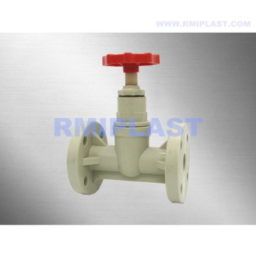 PP Globe Valve Wheel Handle Flange DIN PN10