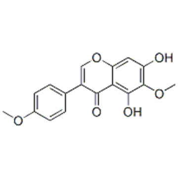 4H-1-Benzopyran-4-one,5,7-dihydroxy-6-methoxy-3-(4-methoxyphenyl)- CAS 2345-17-7