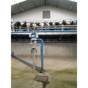 rotating type milking hall