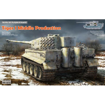 RYE FIELD RFM RM-5010 1/35 Scale Tiger I Middle Production FULL INTERIOR Plastic Model Building Kit