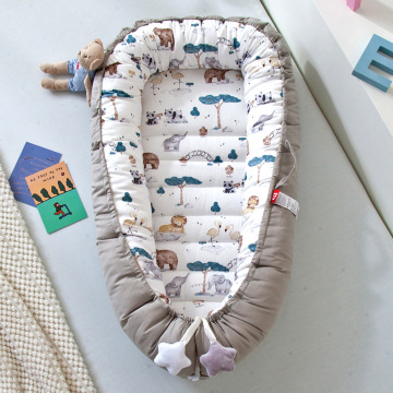 80*50cm Baby Sleeper Nest Bed Portable Toddler Playpen Crib Infant Toddler Cot Cradle Newborn Bassinet Bumper