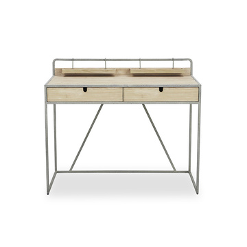 Hot on Amazon Corner Metal Computer Desk with Bookshelf