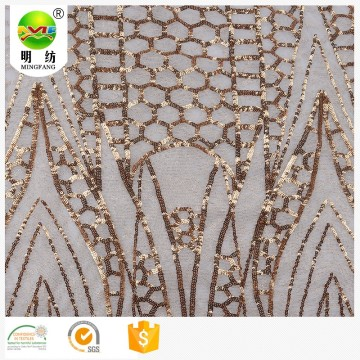 2020 wedding poly sequin mesh embroidery lace fabric