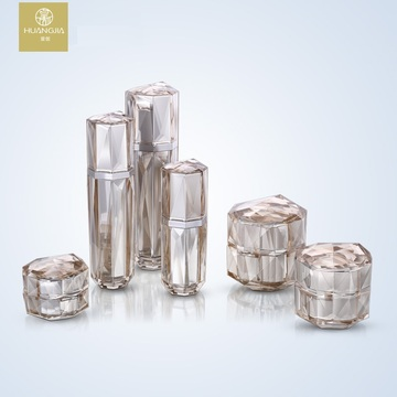 Diamond Acrylic Cosmetic Liquid Spray Bottle And Jar