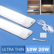 Full Set Led Kitchen Light Under Cabinet Lights 10W 20W 220V T5 LED Tube Bar Wall Lamp For Closet Kitchen Bedroom 1.8M EU Plug