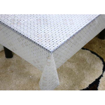 Printed pvc lace tablecloth by roll transparent