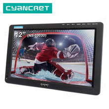 Portable TV DVB-T2 tdt 12 inch Television Digital and Analog mini small Car TV NS-1003D for Monitor Support HDMI PVR H.265 AC3