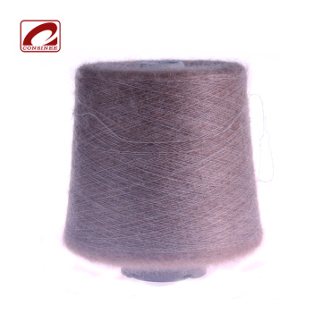 Brushed kid mohair merino wool blended yarn cones