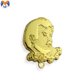 Metal Custom Gold Qatar Pin With Magnet