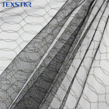 Wholesale Metallic Black Mesh Tulle Fabric for Garment