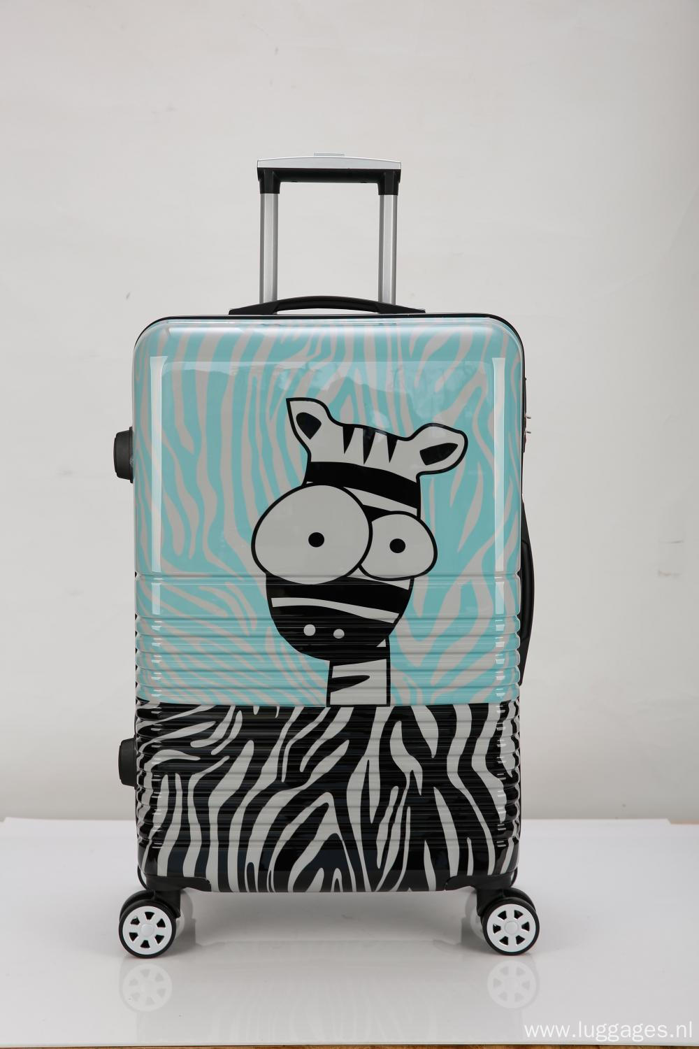 Cartoon Printed Hard Shell Caster Luggage