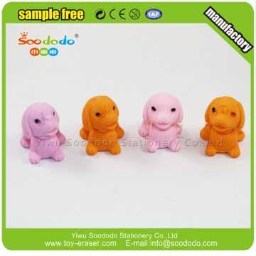 Funny 3d colorful dog shaped eraser