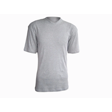 100% Cotton Men's V-Neck T-shirt 160G
