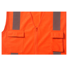 Safety vest with reflective X on back