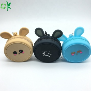 Cute Design Mini Coin Purse Silicone Pouch