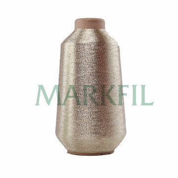 150D Polyester metallic yarn gold