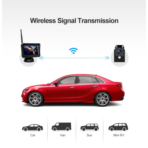 Car Backup Camera kit Wireless with 4.3inch Monitor