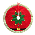 Christmas tree skirt with magic elf pattern