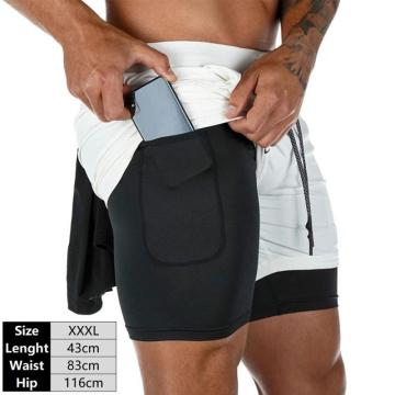2 In 1 Men's Running Shorts MensSports Shorts Male Double-deck Quick Drying Sports Men Shorts Jogging Gym Shorts Men