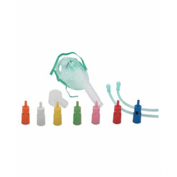 Disposable PVC Adjustable Venturi Mask with Oxygen Tube
