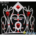 Red Queen Pageant Crowns Bride Hair Accessories