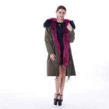 Purple fur winter outwear