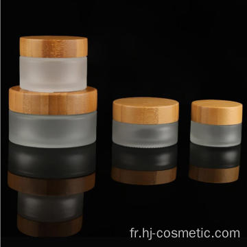 Hot selling bamboo small cosmetics jar, plastic acrylic cream jar 15ml 30ml 50ml 100ml