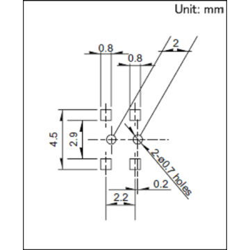Thin Control Lever Type Detection Switch