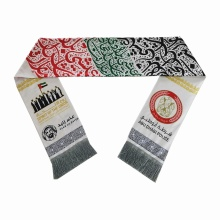 custom other scarfs printing knitted football scarf