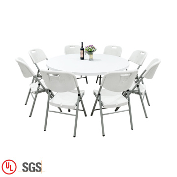 folding plastic round outdoor table and chair