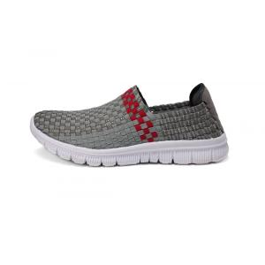 Classic Grey Comfortable Tread Fabric Woven Loafers