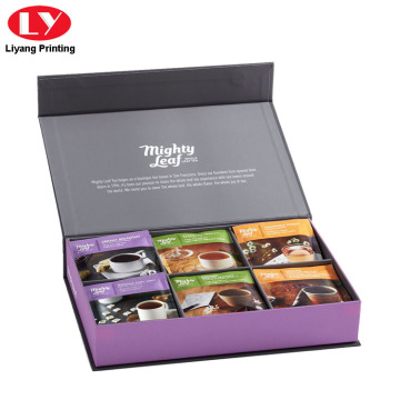 Luxury Cardboard Magnetic Tea Set Box