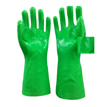 Fluorescent Green Reinforce PVC Coated Gloves