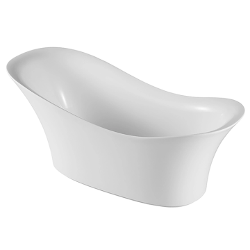 European Style Indoor Simple Deep Acrylic Bathtubtub