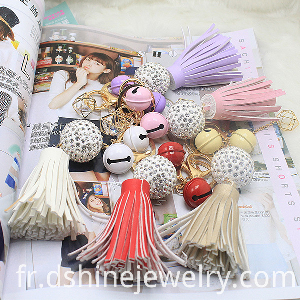Tassel Keychain With Clasp For Bag