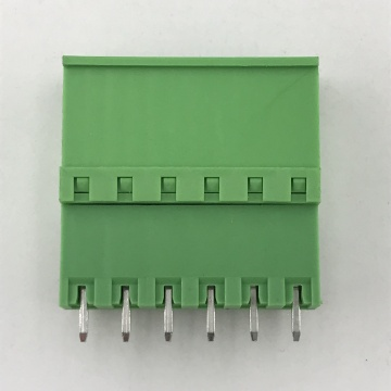180degree PCB pluggable terminal block connector
